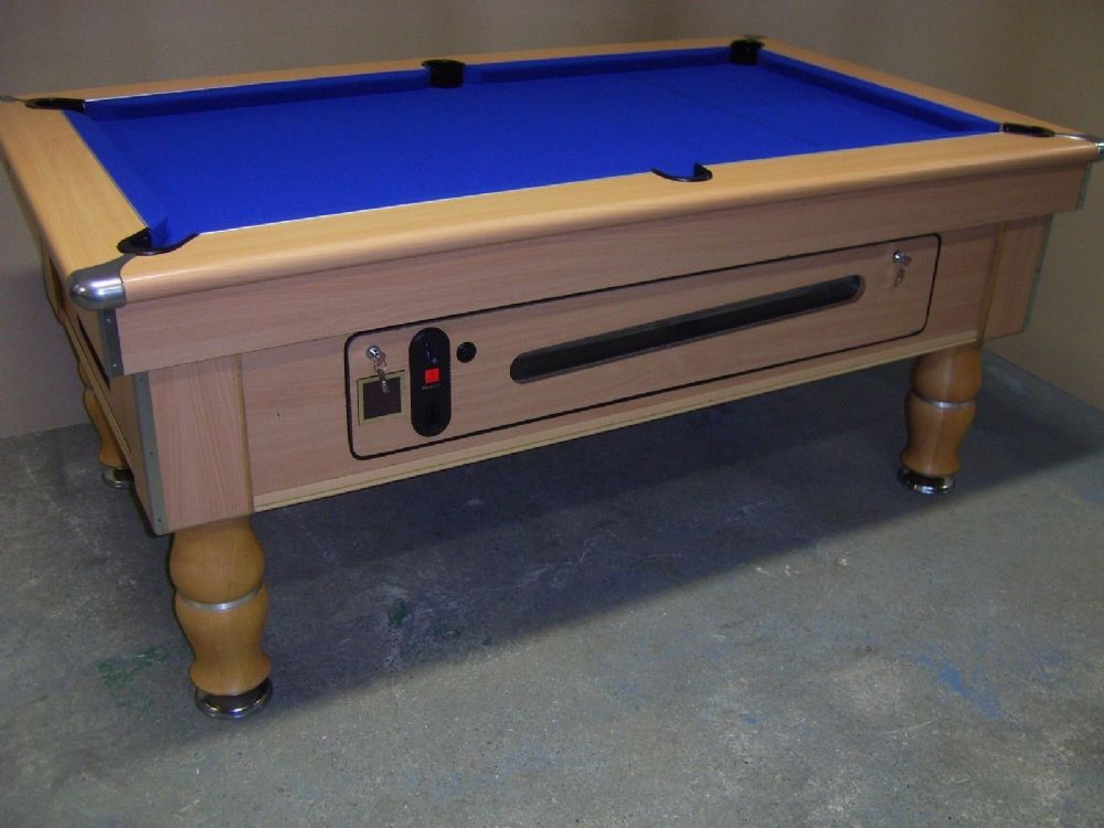 Spirit beech 6x3 slate bed pub pool table for Pool table 6 x 3