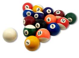 Slate Bed Pub Pool Table Balls