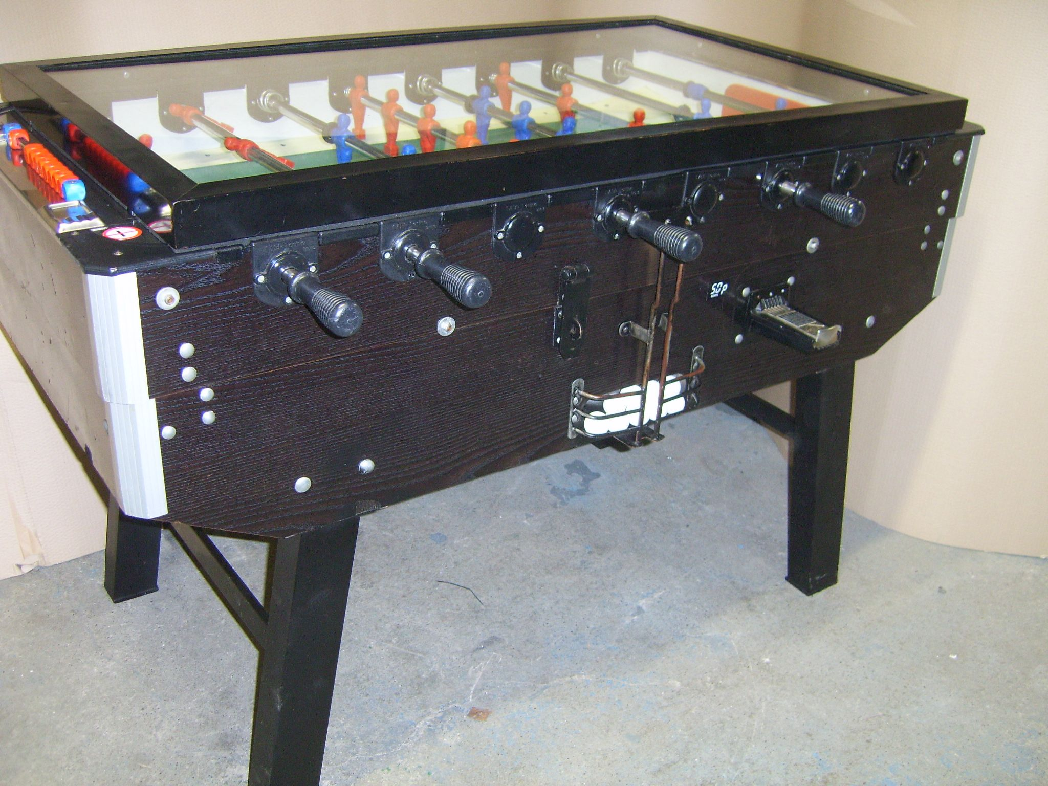 Coin Operated Foosball Table Images Genuine Italian - Deutscher meister foosball table