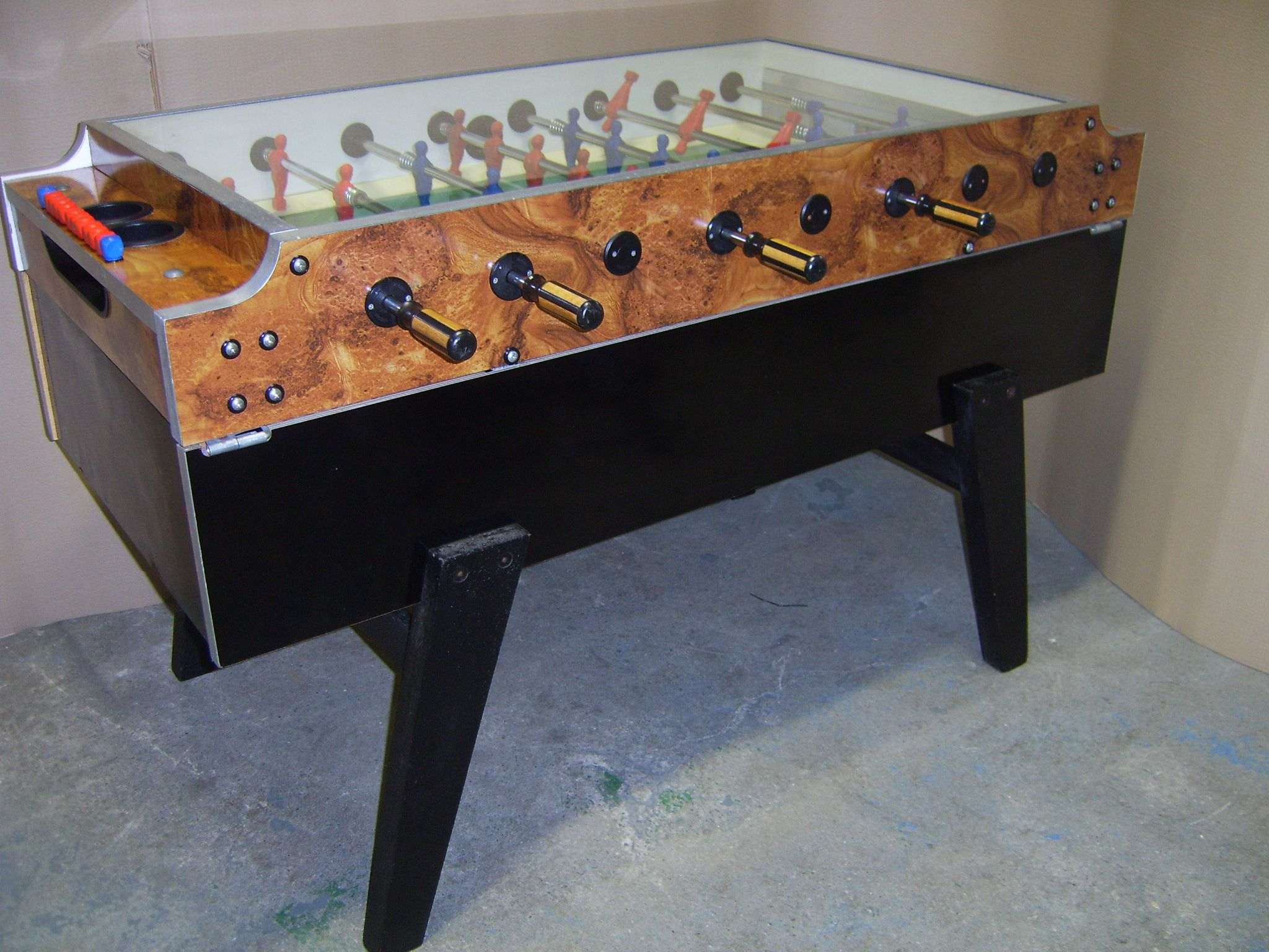 Genuine Italian Garlando Coperto Football Foosball Table Coin Operated - Italian foosball table