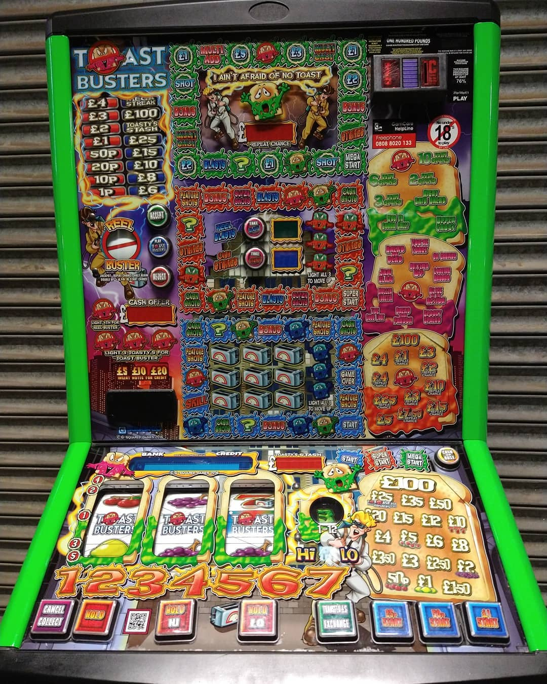 Toastbusters Fruit Machine